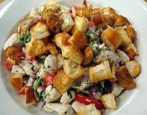 Ensalada pollo crujiente con salsa vinagreta