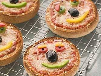Minipizzas para niños
