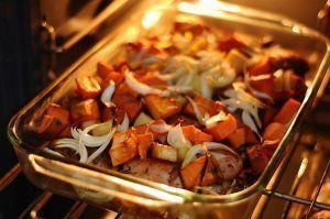 Carne con Zanahorias y Cebolla al Horno
