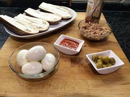 preparación berengena rellena plato