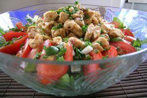 Ensalada de espinacas con huevas